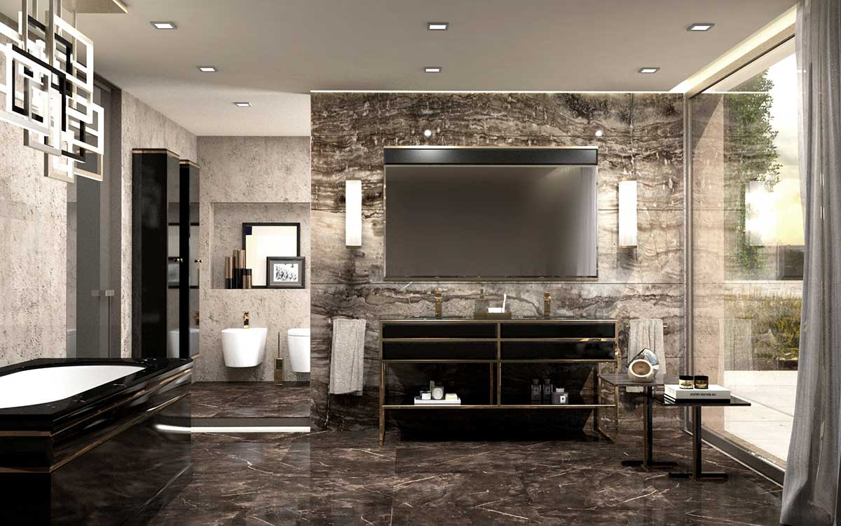 Academy collection of luxury bathroom furniture by oasis for Exclusive bathroom designs