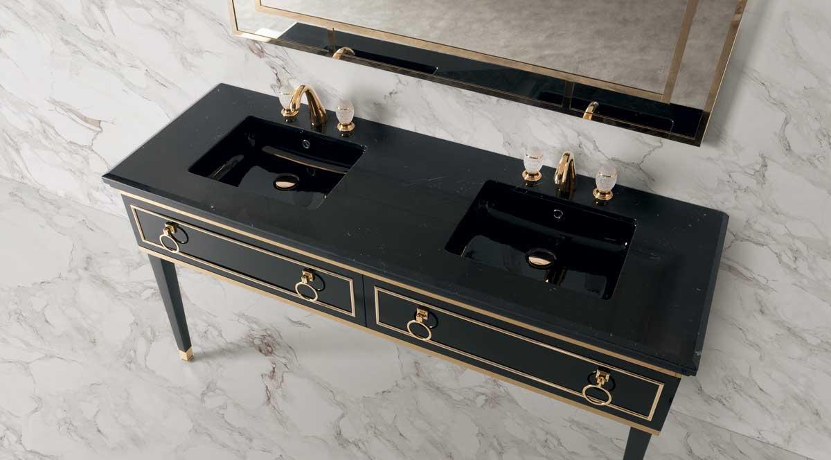 Consolle bagno art deco com cassettone art dec for Consolle bagno ikea