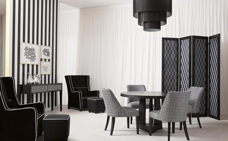 Geometric patterns triumph – Dining room