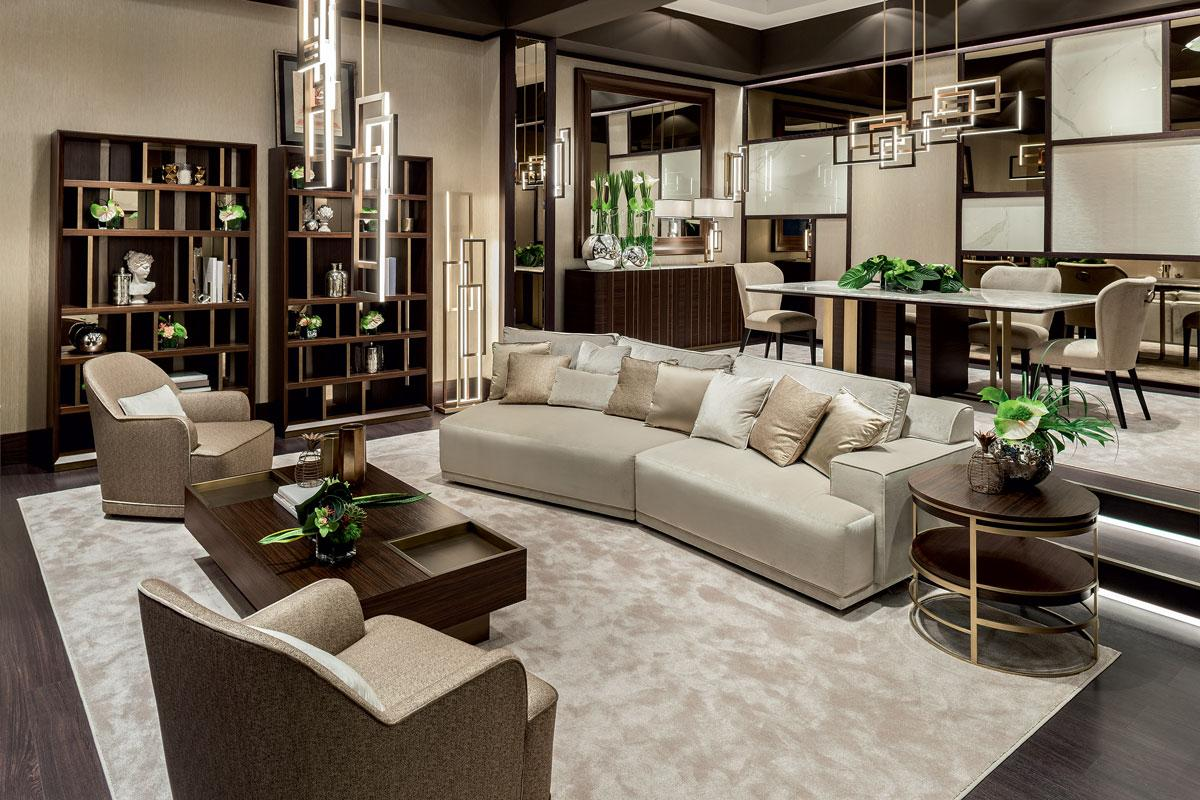 Modern beige living room
