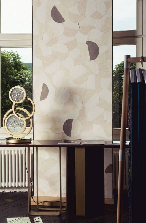 Saint Germain console and Moon table lamp