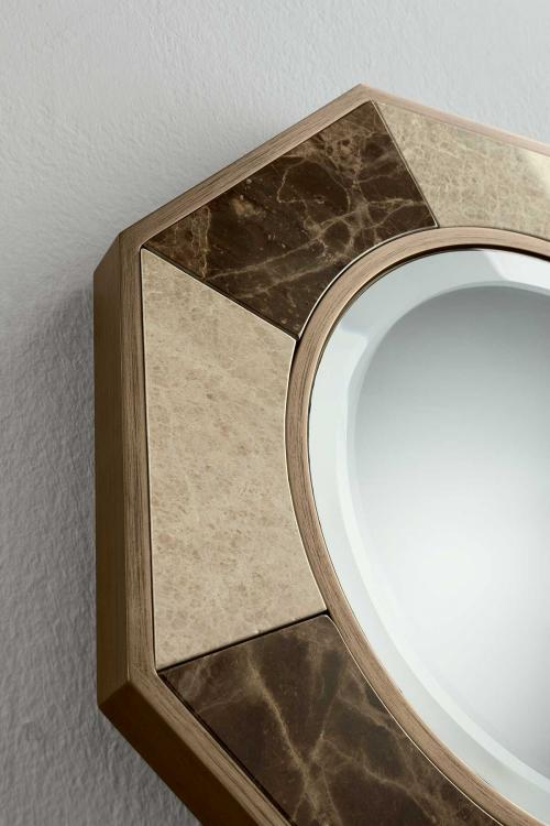 Keira octagonal mirror by  Oasis