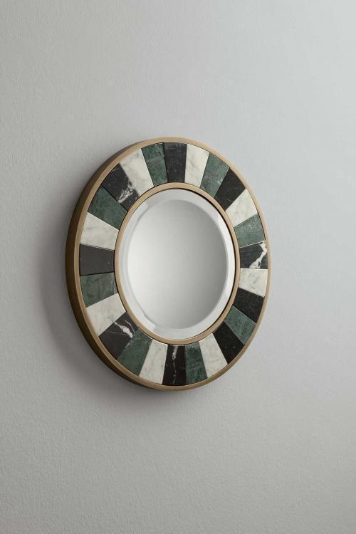 Keira round mirror by Oasis