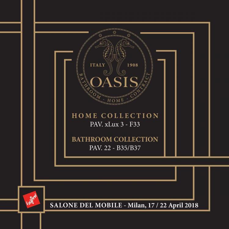 Invito Oasis salone Milano 2018