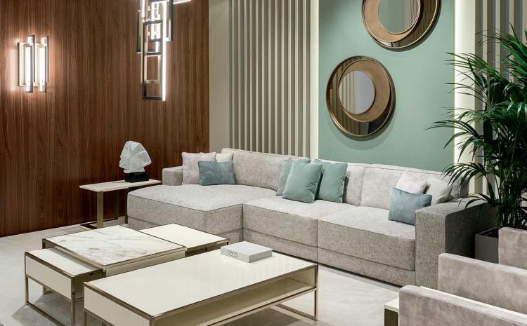 Mélange of Materials  Living Room