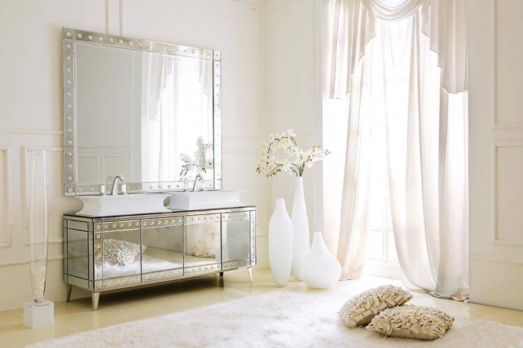 "Rivoli ""Special Edition"", Venetian antiqued mirror, Fortuny faucet, chrome details"