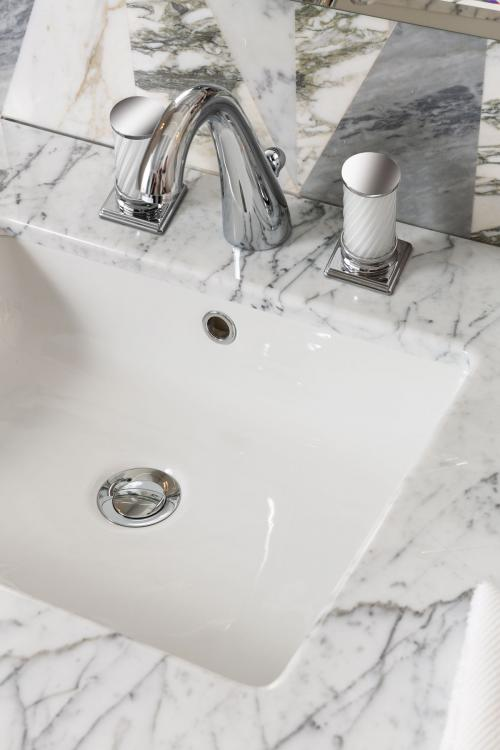 Fortuny Faucet, Bianco Statuario marble