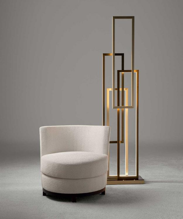 Ava Armchair & Edge Floor Lamp - Home Collection
