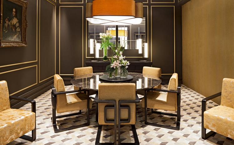 Golden and marble gala – Dining room
