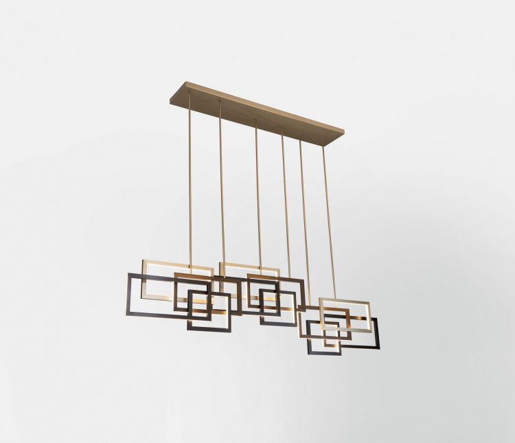 Edge suspended lamp - Triple unit - Horizontal version