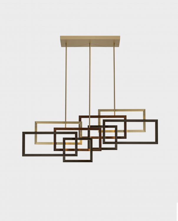 Edge suspended lamp - Double unit - Horizontal version