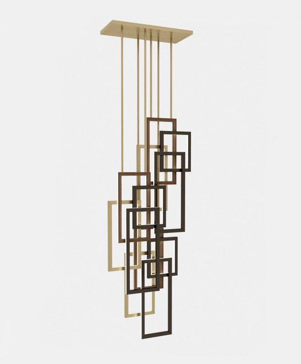 Edge suspended lamp - Triple unit - Vertical version
