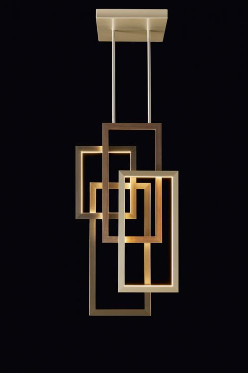 Edge suspended lamp - Single unit - Vertical version