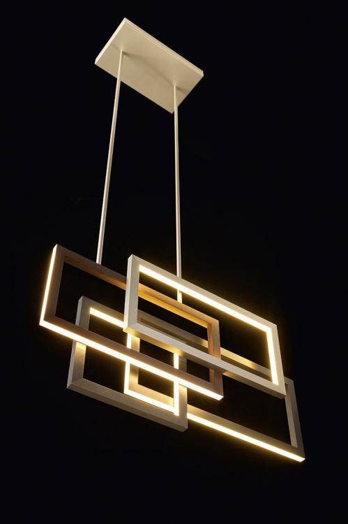 Edge suspended lamp - Single unit - Horizontal version