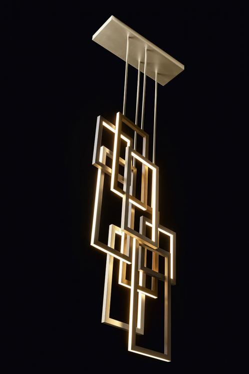 Edge suspended lamp - Double unit - Vertical version