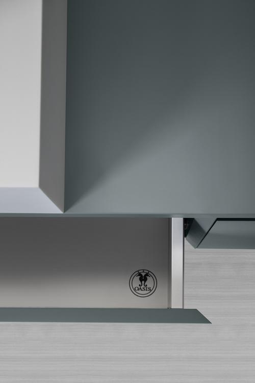 Manhattan vanity unit, Avio finish, countertop corian washbasin