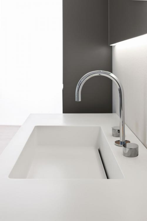 Manhattan vanity unit, Antracite finish, corian washbasin