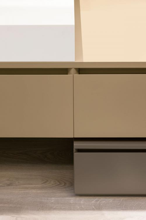 Manhattan vanity unit and base unit, Beige/Vulcano finish
