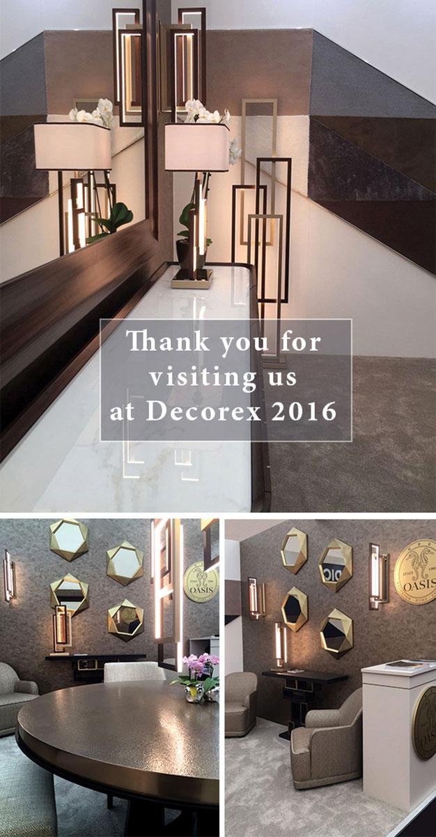 A great success at Decorex 2016