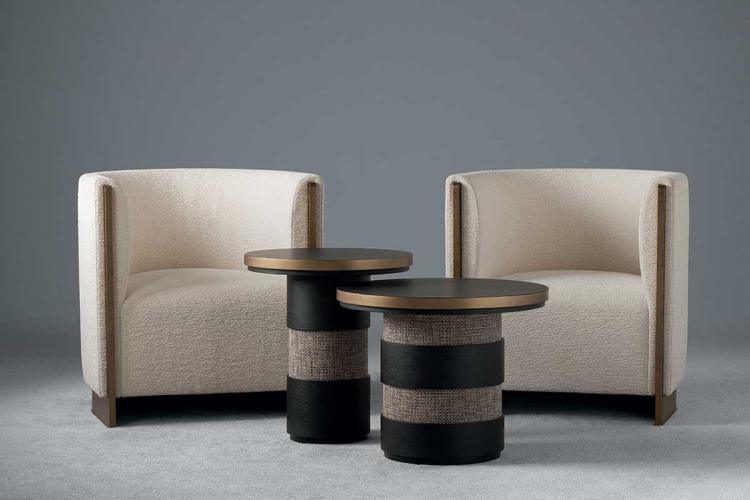 Adeline armchair & Eros side tables - Home Collection