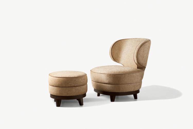 Marcel Armchair and Pouf - Home collection