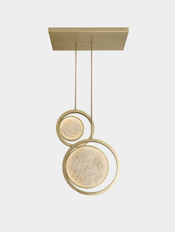 Moon suspended lamp - double unit