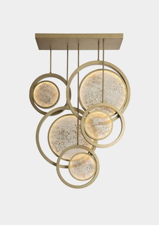 Moon suspended lamp - five units
