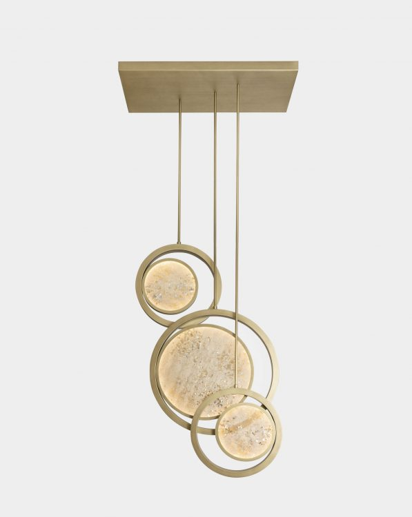 Moon suspended lamp - triple unit