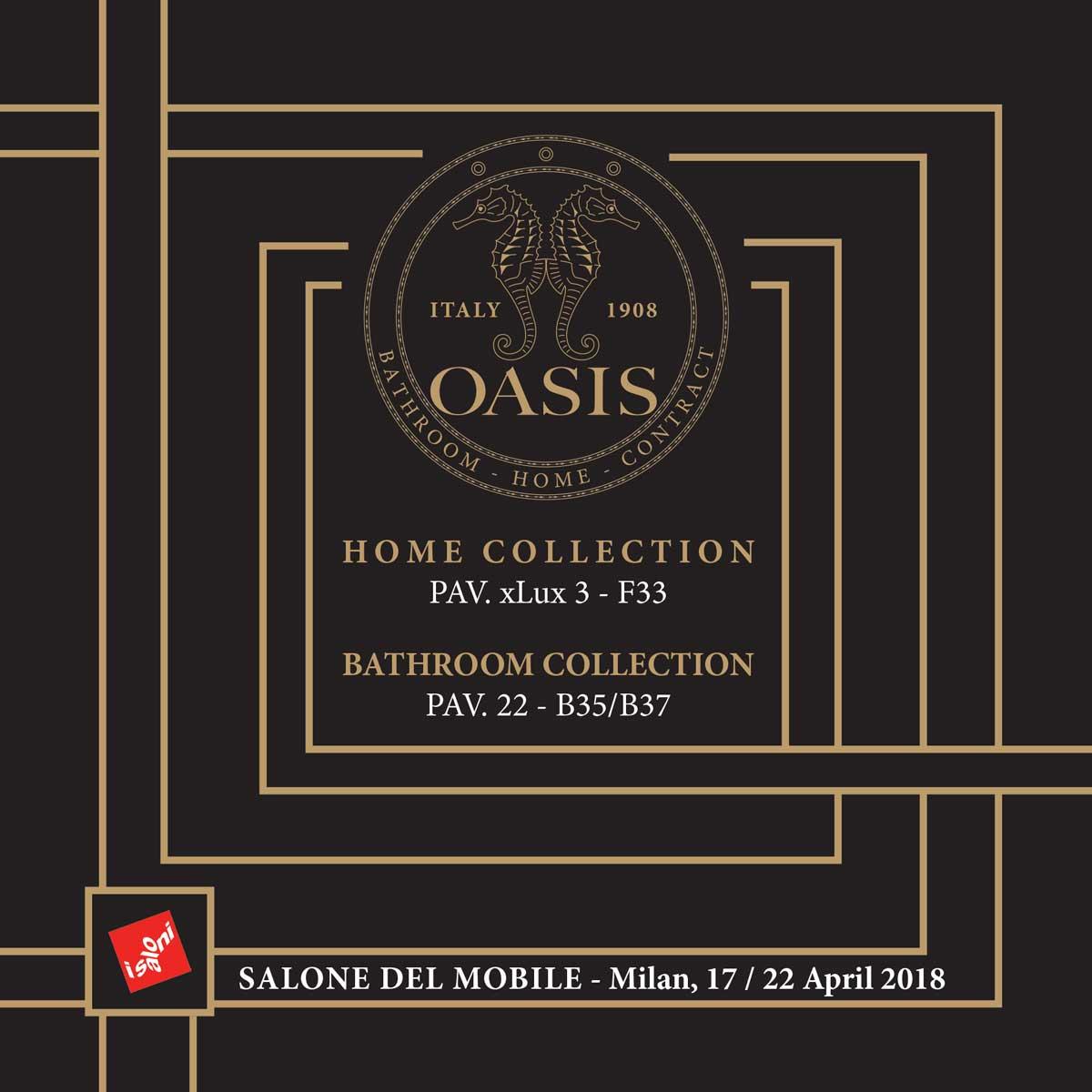 OASIS @ MILAN DESIGN WEEK | 17-22 April 2018