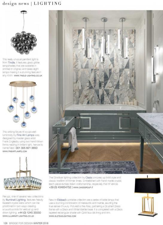 Stradivari Lighting collection on Bridge For Design - winter issue