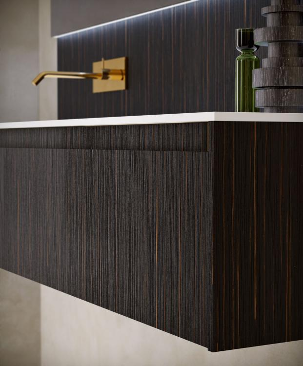 Eden vanity unit and backsplah, Ammara Ebony