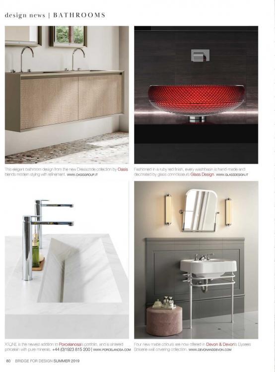 Bridge For Design Summer Issue - Editorial Dresscode bath