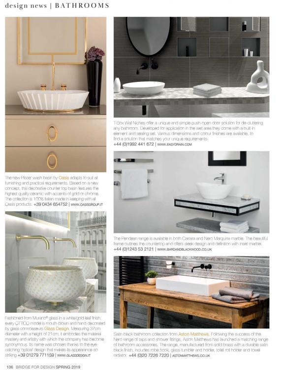 Editorial bath Bridge For Design spring Issue 2019