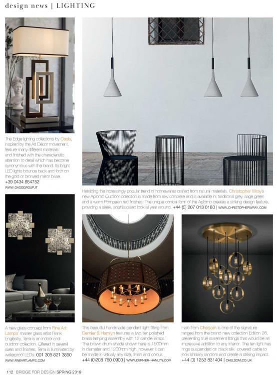 Editorial lighting Bridge For Design spring Issue 2019