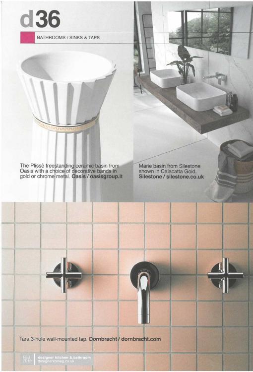Designer Kitchen & Bathroom - Februay 2019 Plissè