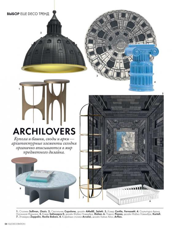 Elle Decor Ukraina - September 2019 - Editorial Sullivan sidetable