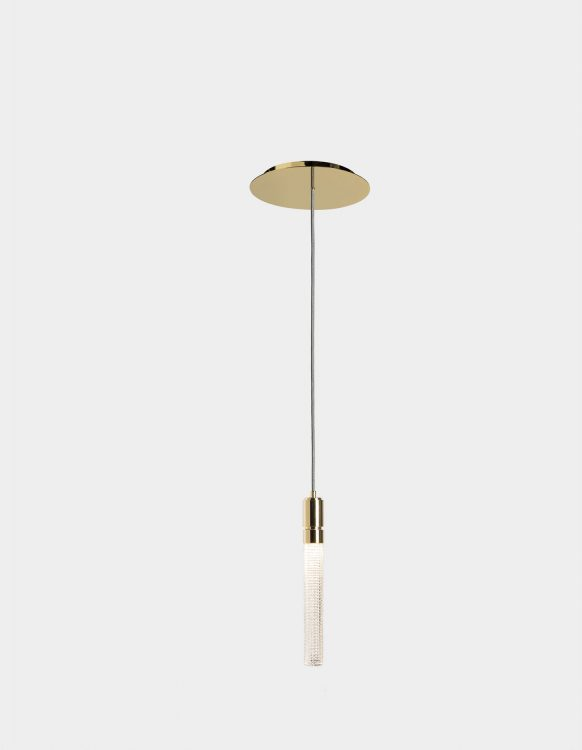 Ducale Flute Down - Suspended Lamp - Single Unit - Kube glass