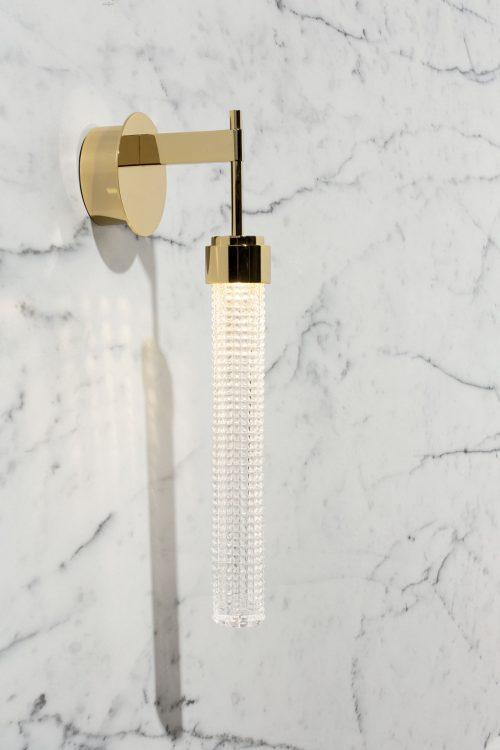 Ducale Flute Down - Wall Lamp - Kube glass