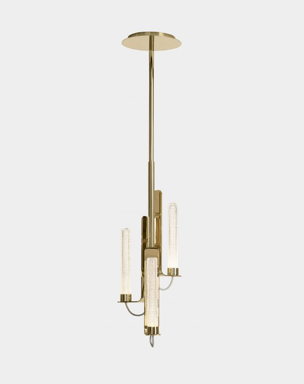 Ducale Flute Up - Suspended Lamp - Single Unit - Kube glass