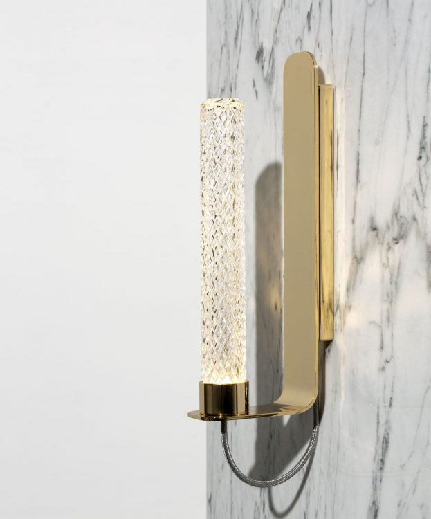 Ducale Flute Up - Wall Lamp - Kube glass