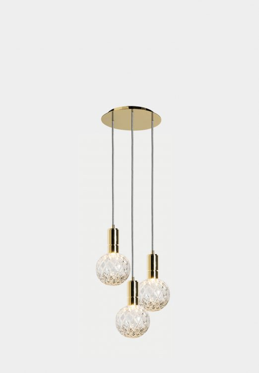 Ducale Sphera Down - Suspended Lamp - Triple Unit - Rhombus glass