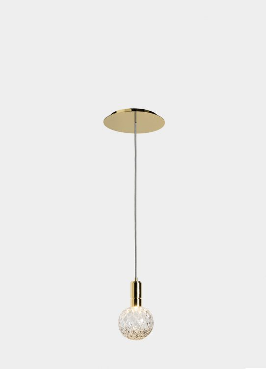 Ducale Sphera Down - Suspended Lamp - Single Unit - Rhombus glass
