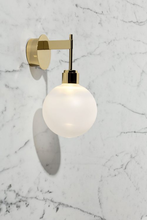 Ducale Sphera Down - Wall Lamp - Smooth glass
