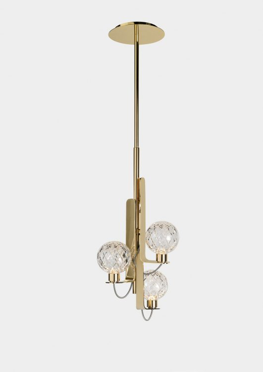 Ducale Sphera Up - Suspended Lamp - Single Unit - Rhombus glass