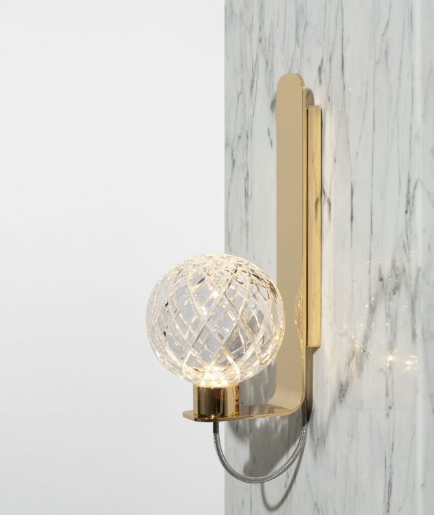 Ducale Sphera Up - Wall Lamp - Rhombus glass