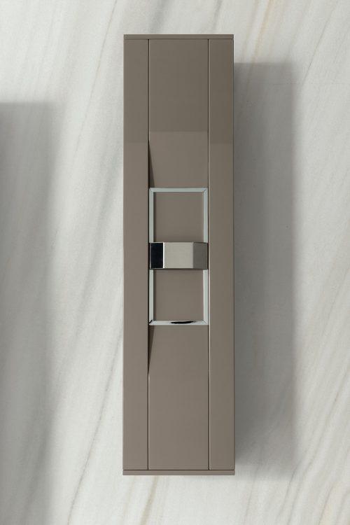 Prestige suspended wall unit, Vulcano finish and chrome metal