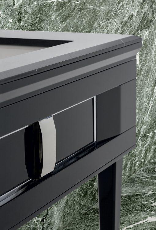Prestige vanity unit, Black finish and chrome metal handle